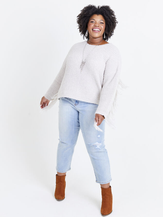 Falling for Fringe Sweater Detail 4 - ARULA formerly A'Beautiful Soul