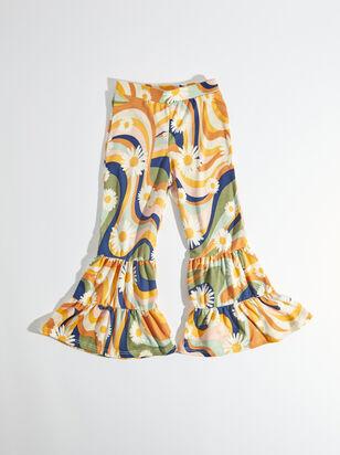 Tullabee Retro Daisy Flare Pants - ARULA