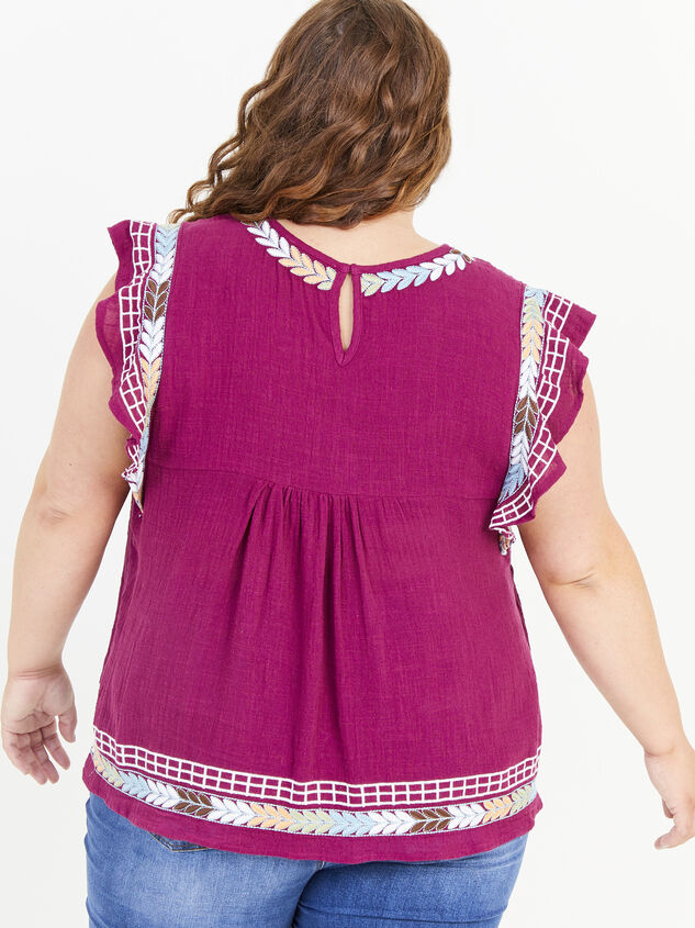 Elsie Embroidered Top Detail 3 - ARULA formerly A'Beautiful Soul