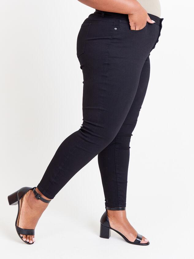 "Incrediflex 29"" Black Skinny Jeans Detail 3 - ARULA formerly A'Beautiful Soul"