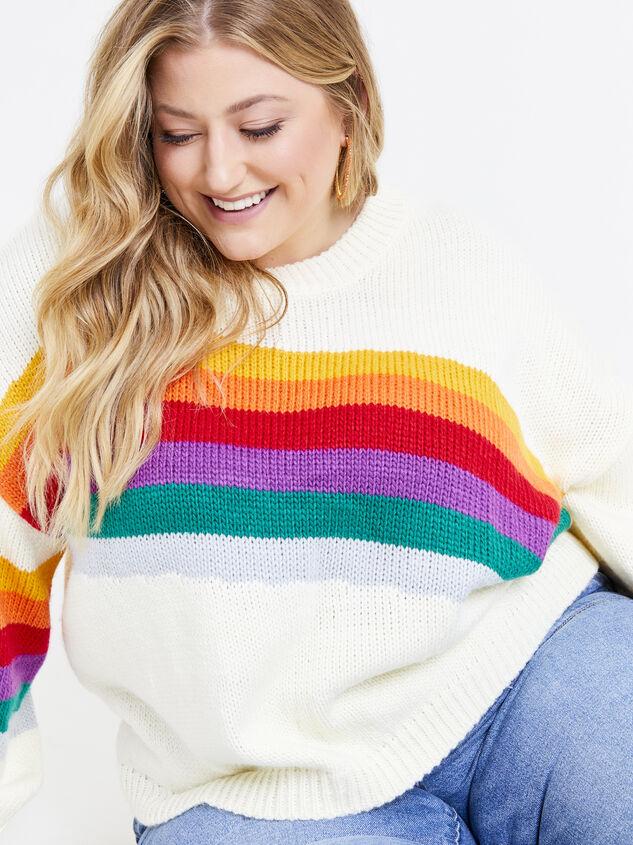 Rainbow Sweater Detail 4 - ARULA formerly A'Beautiful Soul
