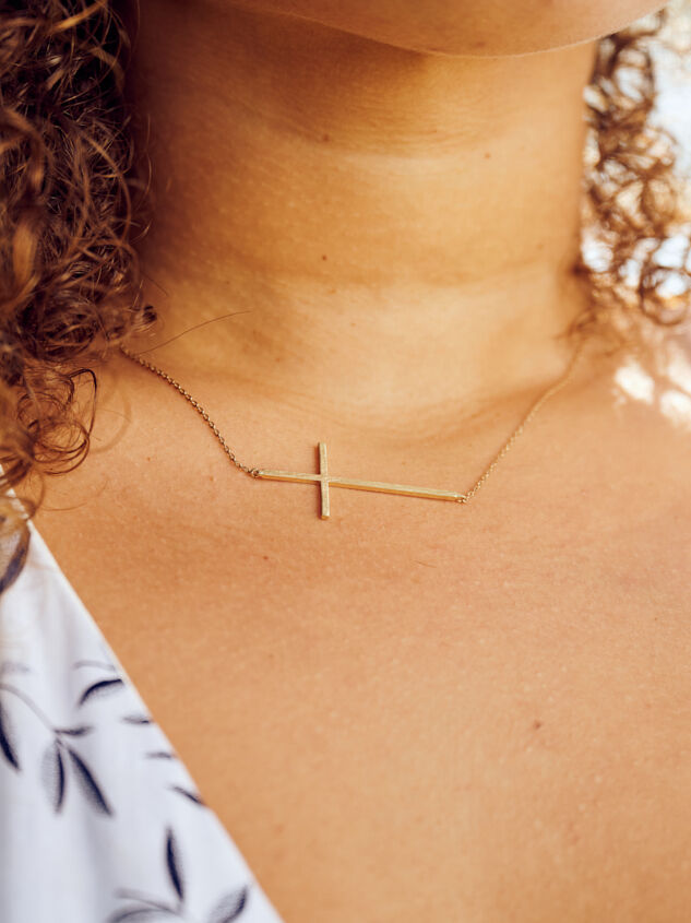Dainty Cross Necklace Detail 2 - ARULA formerly A'Beautiful Soul