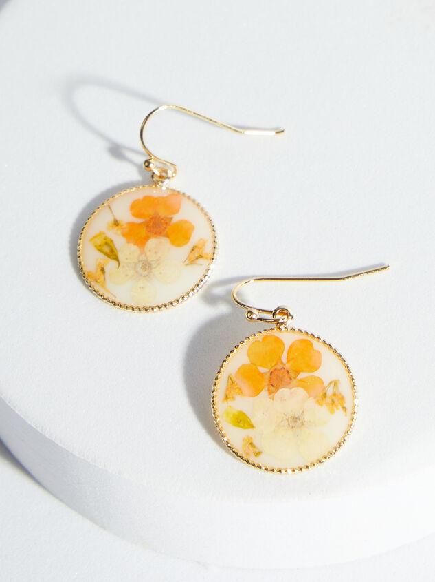 Dried Flower Dangle Earrings - ARULA