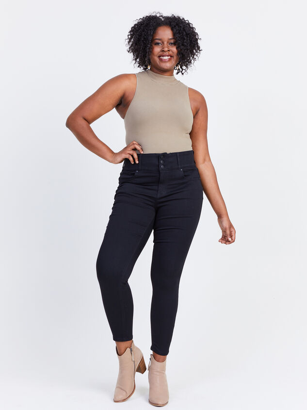 Waist Smoothing Skinny Jeans Detail 5 - ARULA formerly A'Beautiful Soul