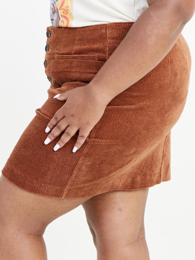 Janna Corduroy Skirt Detail 3 - ARULA formerly A'Beautiful Soul