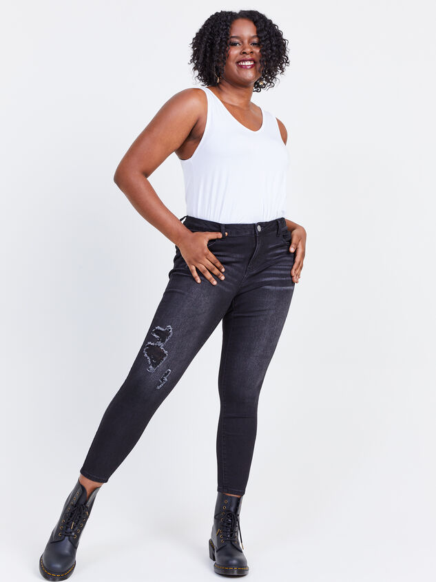 "Incrediflex 29"" Skinny Jeans Detail 5 - ARULA formerly A'Beautiful Soul"