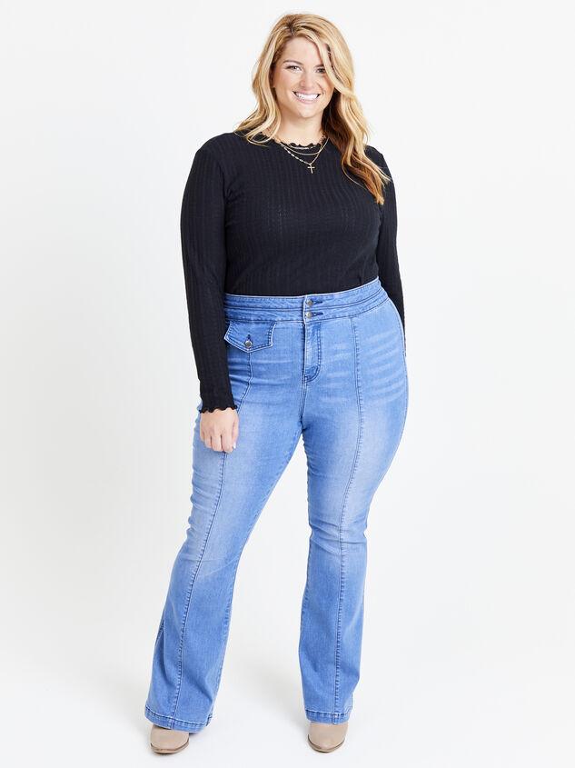 Blue Steel Flare Jeans - ARULA