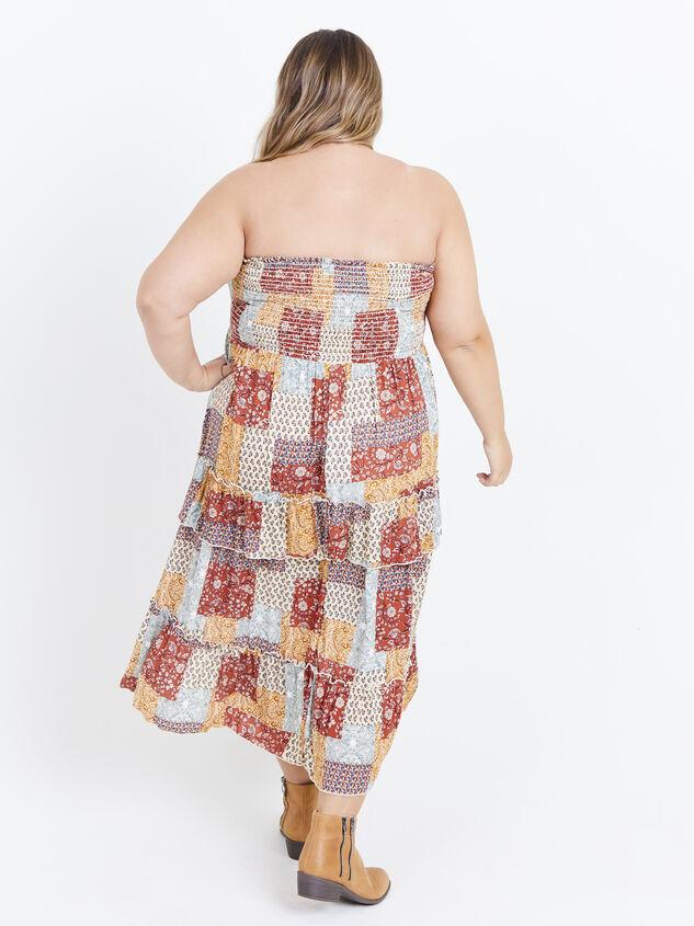 Karolina Convertible Dress - Patchwork Detail 4 - ARULA