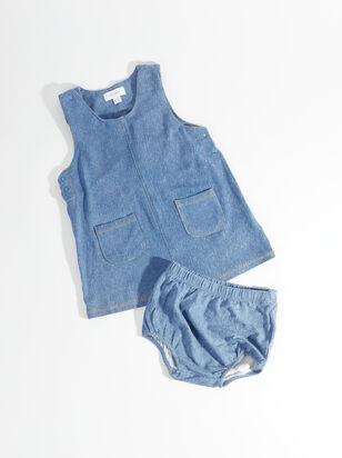 Tullabee Blue Jean Baby Dress & Bloomer Set - ARULA