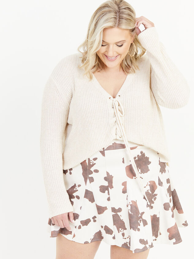 Cowhide Skirt Detail 1 - ARULA formerly A'Beautiful Soul