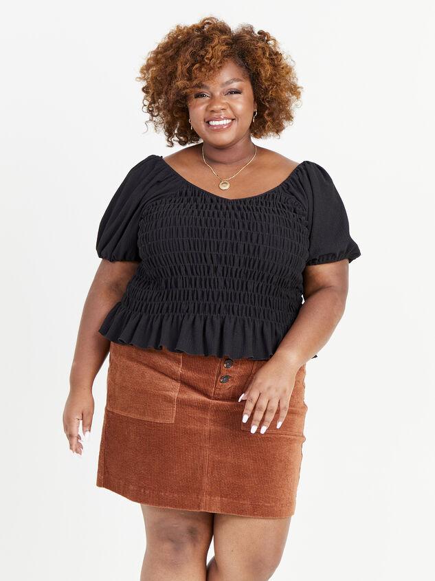Janna Corduroy Skirt Detail 1 - ARULA formerly A'Beautiful Soul