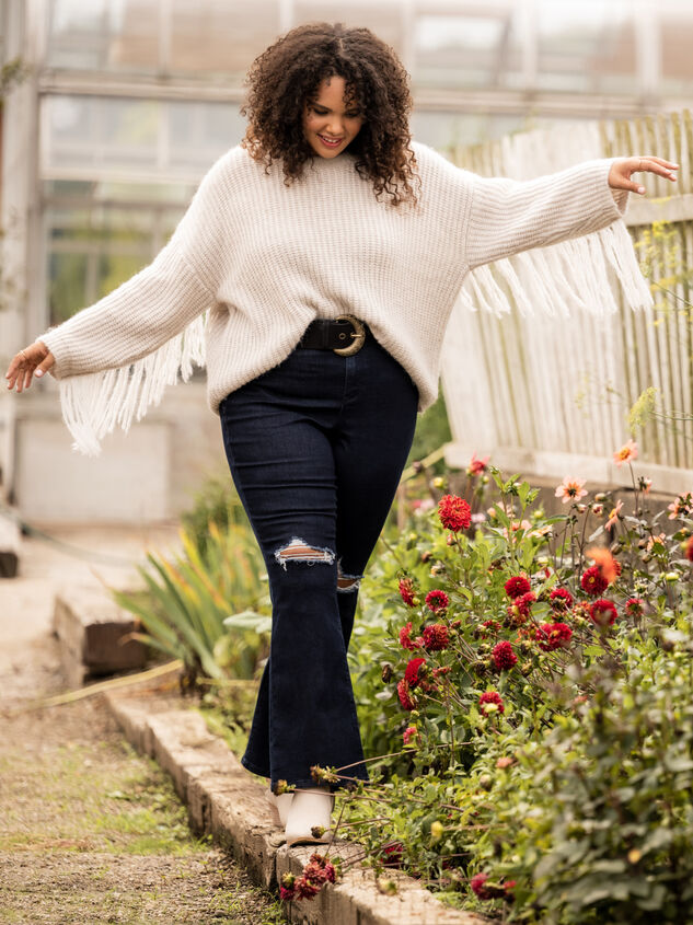 Falling for Fringe Sweater Detail 6 - ARULA formerly A'Beautiful Soul