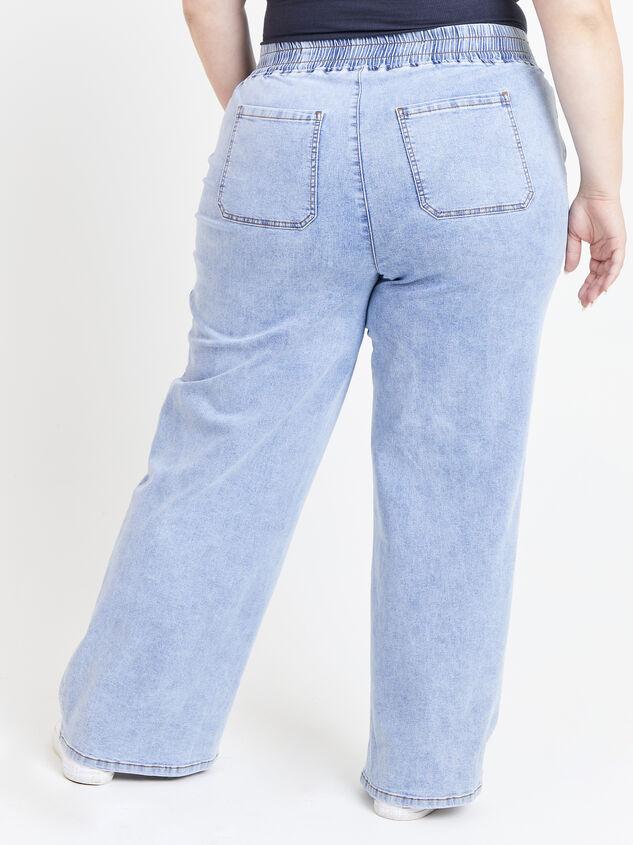 Forever Blue Wide Leg Jeans Detail 4 - ARULA