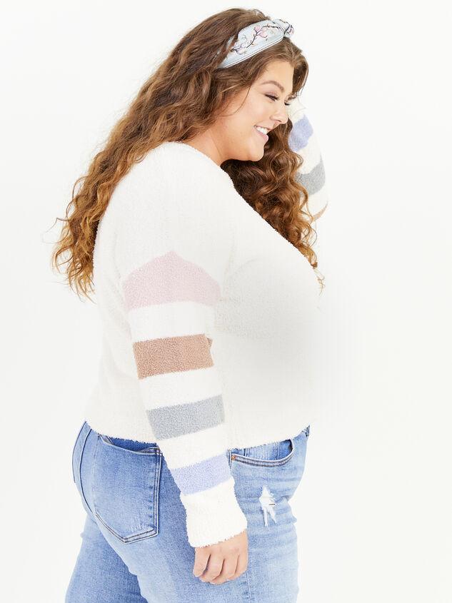 Sammie Striped Sweater Detail 2 - ARULA