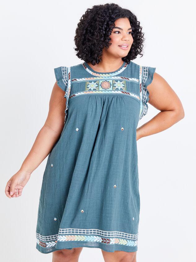 Elsie Embroidered Dress - ARULA
