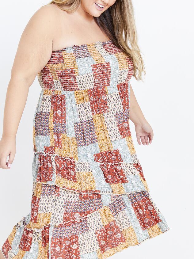 Karolina Convertible Dress - Patchwork Detail 5 - ARULA