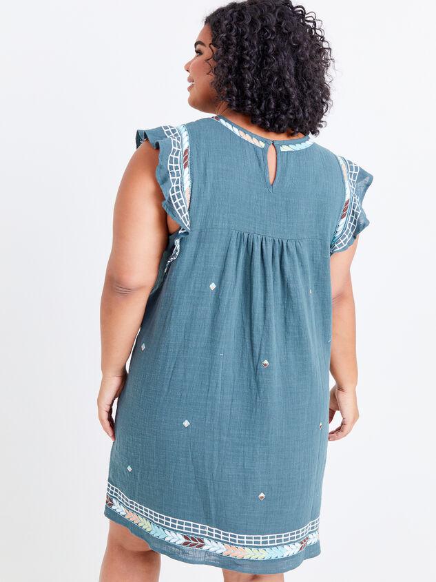 Elsie Embroidered Dress Detail 3 - ARULA