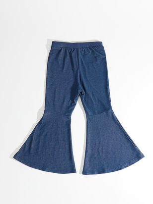 Tullabee Denim Knit Flares - ARULA