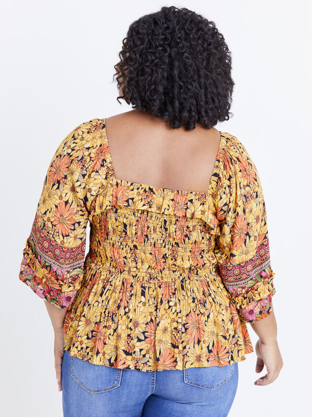 Scarlet Sunflower Top Detail 3 - ARULA formerly A'Beautiful Soul