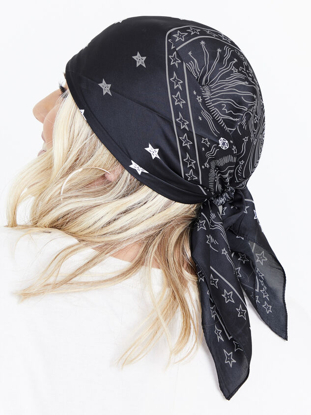 Celestial Bandana - Black Detail 5 - ARULA