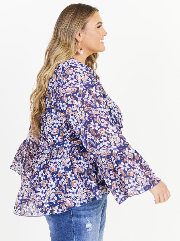 Coralie Top - Navy Detail 2 - ARULA formerly A'Beautiful Soul