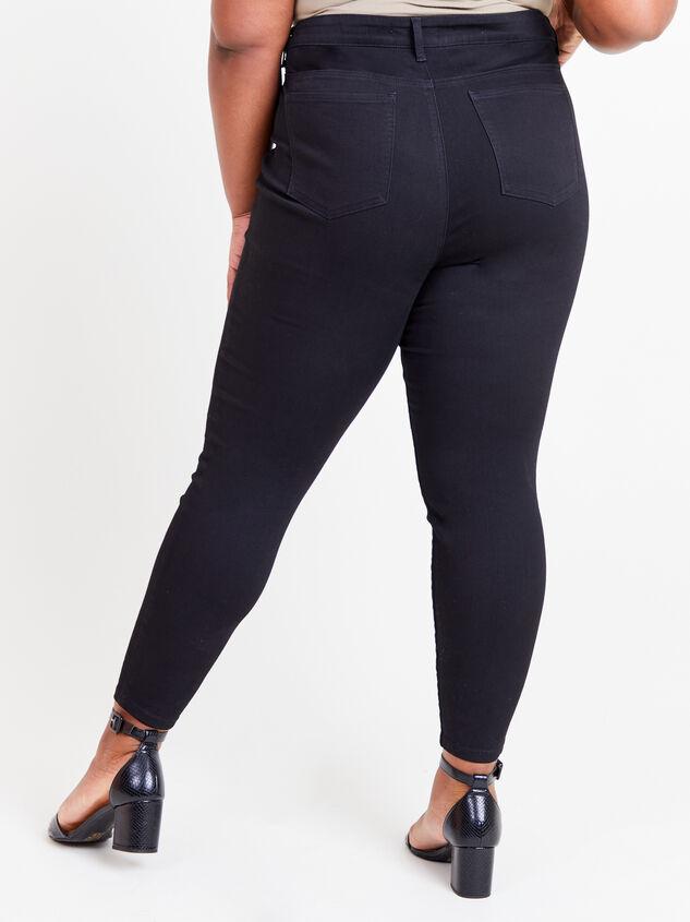 "Incrediflex 29"" Black Skinny Jeans Detail 5 - ARULA formerly A'Beautiful Soul"