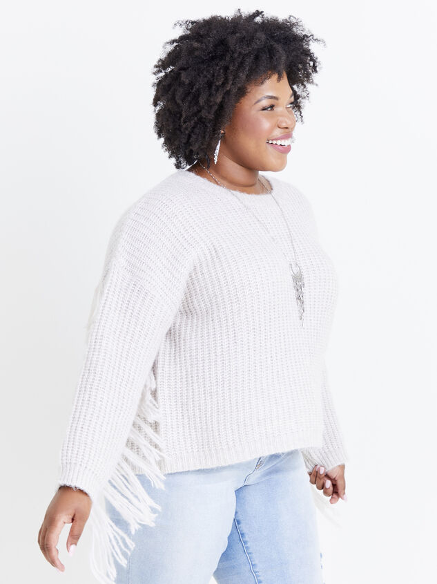 Falling for Fringe Sweater Detail 3 - ARULA formerly A'Beautiful Soul