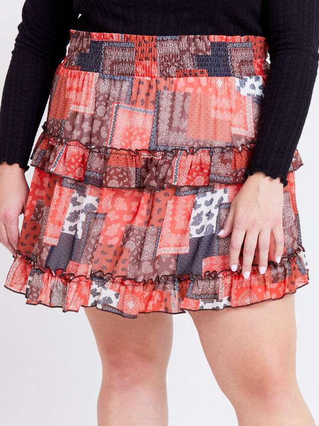 Nina Patchwork Skirt Detail 2 - ARULA formerly A'Beautiful Soul