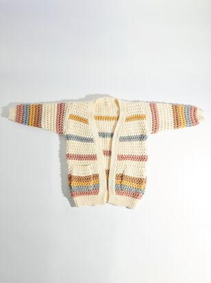 Tullabee Chunky Striped Cardigan - ARULA