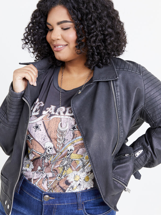 Quilted Moto Jacket Detail 4 - ARULA formerly A'Beautiful Soul