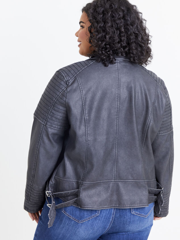 Quilted Moto Jacket Detail 3 - ARULA formerly A'Beautiful Soul