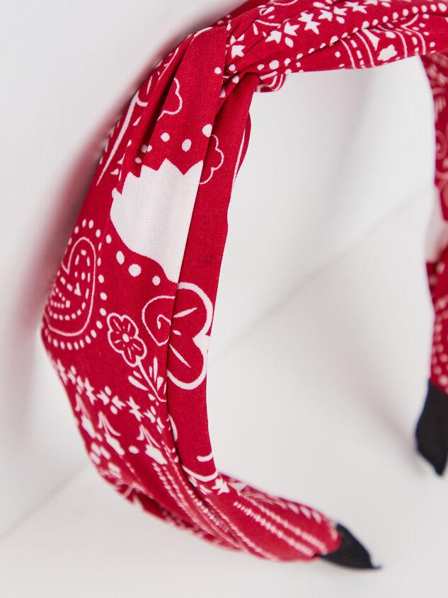 Bandana Headband - Red Detail 3 - ARULA formerly A'Beautiful Soul