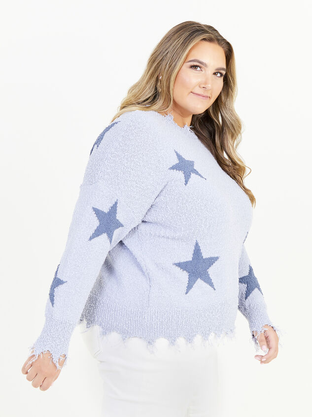 Dreamscape Star Sweater Detail 2 - ARULA formerly A'Beautiful Soul