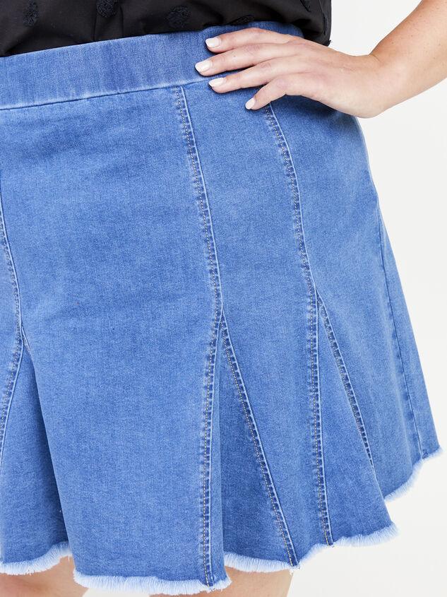 Delilah Denim Skirt Detail 4 - ARULA formerly A'Beautiful Soul